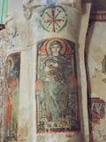 Forntida kristen väggmålning arkivbilder