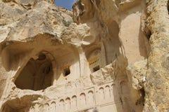 Forntida kristna grottakyrkor Royaltyfria Foton