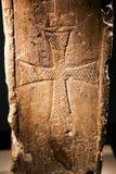 Forntida kristna monument på det georgiska nationella museet - Tbilisi arkivfoton