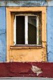 Forntida kulört fönster Tappning målad konstnärlig bakgrund Royaltyfri Foto