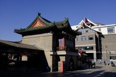 Forntida kulturgata i Tianjin, Kina Arkivbild