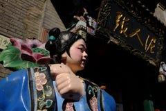 Forntida kulturgata i Tianjin, Kina Arkivbilder