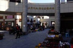 Forntida kulturgata i Tianjin, Kina Arkivfoto