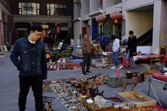 Forntida kulturgata i Tianjin, Kina Fotografering för Bildbyråer