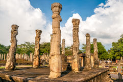 Forntida kungarike Polonnaruwa Arkivbild