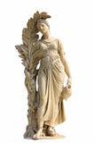 Forntida kvinnastaty i vit bakgrund Royaltyfri Fotografi