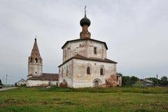 Forntida kyrka i Suzdal Arkivfoto