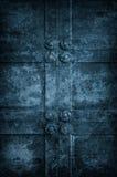 Forntida kyrklig dörr Arkivfoton