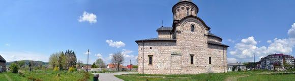 Forntida kyrklig panorama Arkivbild