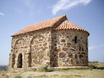 forntida kyrklig rock för david garejakloster Royaltyfri Fotografi