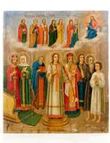 forntida kyrklig symbol Royaltyfria Foton