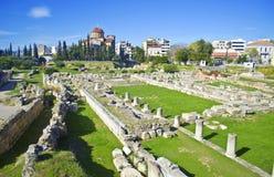 Forntida kyrkogård av Aten Kerameikos Grekland Arkivfoto
