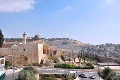 Forntida kyrkogård på Mount of Olives. Jerusalem Fotografering för Bildbyråer