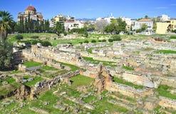 Forntida kyrkogård av Aten Kerameikos Grekland Royaltyfria Bilder