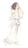 forntida lady för klänning 03 Royaltyfri Fotografi