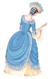 forntida lady för klänning 05 Royaltyfri Foto