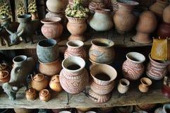 Forntida lergods för souvenir, förbud Chiang, Thailand royaltyfria bilder