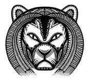 Forntida Lion vektor illustrationer