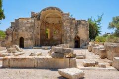 Forntida lokal av Gortyn. Crete Grekland Arkivfoton