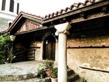 Forntida lonic kolonn Ohrid stad, Makedonien arkivfoton