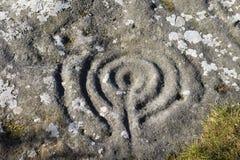 forntida lynn markeringar som sänder stenen royaltyfria bilder