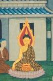 Forntida målning av buddha Royaltyfri Fotografi