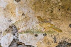 Forntida målning på väggen Royaltyfri Foto
