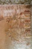 Forntida målning på väggen på egyptiska gravar Arkivbilder