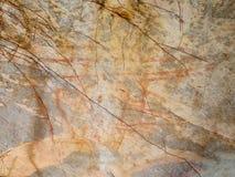 Forntida målningar på stenen, Phayao, Thailand Royaltyfria Bilder