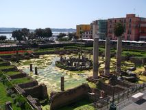 Forntida Macellum av Pozzuoli Arkivfoton