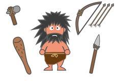 Forntida man och utrustningar Royaltyfri Fotografi