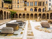 Forntida marknad i gammal stad av Baku Arkivfoto