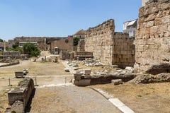 Forntida marknadsplats av Aten Royaltyfria Bilder