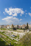 Forntida marknadsplats av Athens Royaltyfri Foto