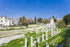 Forntida marknadsplats av Athens Arkivfoto