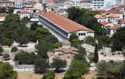 Forntida marknadsplats i Athens Royaltyfri Foto