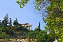 Forntida marknadsplats på Aten, Grekland Royaltyfria Foton
