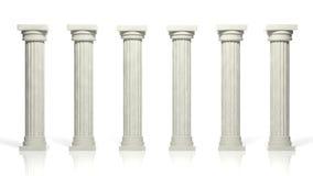 Forntida marmorpelare Arkivbilder