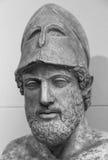 Forntida marmorståendebyst av Pericles Arkivbilder