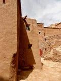 Forntida marockansk by till övergivande arkivfoto