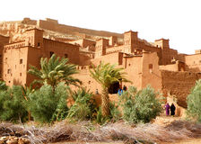 Forntida marockanska stilarkitekturer av Ait Ben Haddou, Marocko Fotografering för Bildbyråer