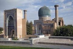 forntida mausoleum uzbekistan Arkivfoton