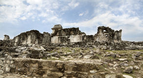 Forntida Mayan fördärvar i Palenque Fotografering för Bildbyråer