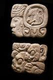 Forntida Mayan hieroglyphs Fotografering för Bildbyråer