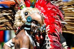 forntida mayan krigare Arkivfoto