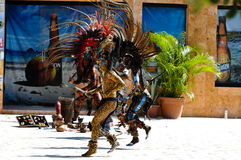 forntida mayan krigare Arkivfoton