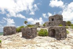 forntida mayan mexico fördärvar tulum Royaltyfria Foton