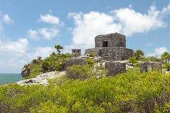 forntida mayan mexico fördärvar tulum Arkivfoto