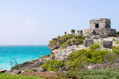 forntida mayan mexico fördärvar tulum Royaltyfri Fotografi