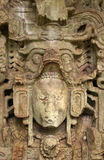 forntida mayan skulptur arkivfoto